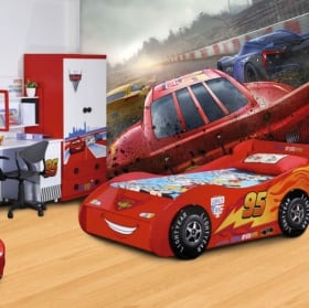 Vinyl wall murals with vintage chevrolet cars