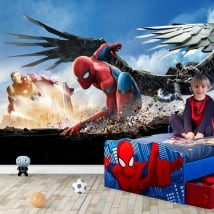 Vinyl photo murals spiderman homecoming