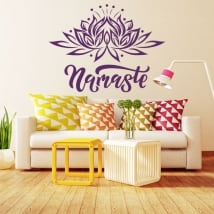 Decorative vinyl and stickers namaste text