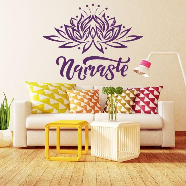 Decorative vinyl and stickers namaste text