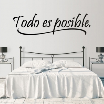 Decorative vinyl phrase everything is possible