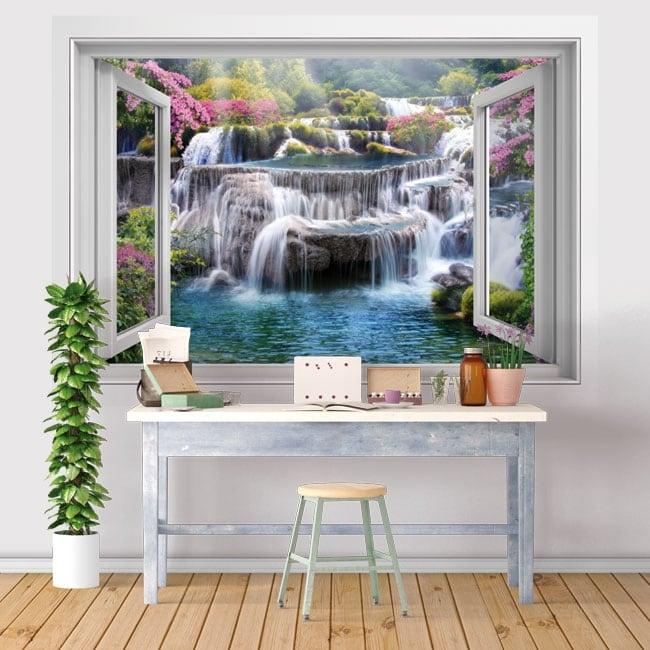 Vinyl windows 3d waterfalls in thailand