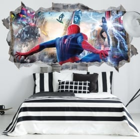 Vinyl walls spiderman 3d
