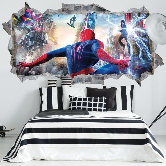 Vinyl walls spiderman 3d
