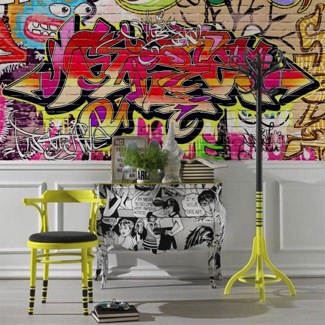 Vinyl murals graffiti