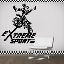 Vinyl and stickers motocross extreme sport