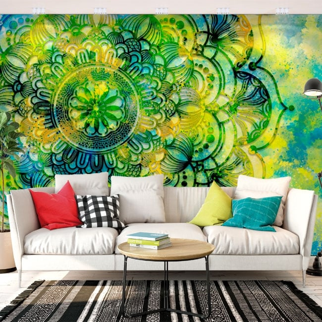 Vinyl wall murals with mandalas