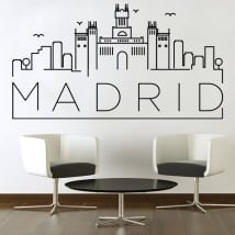 Decorative vinyl and stickers madrid skyline