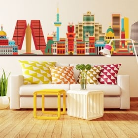 Decorative vinyl madrid skyline