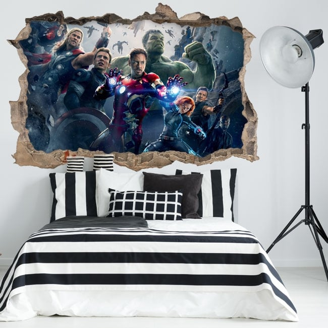 Decorative vinyl and stickers the avengers 3d