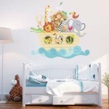 Children's or baby vinyl and stickers noah's ark