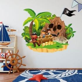 Children's vinyl pirate on the island