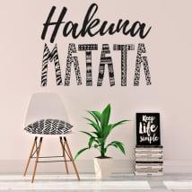 Decorative vinyl and stickers hakuna matata