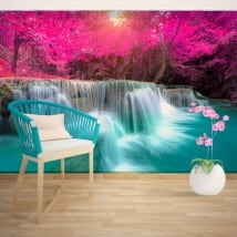 Vinyl murals huay mae kamin waterfalls