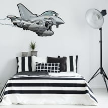 Decorative vinyl and youth stickers fighter plane
