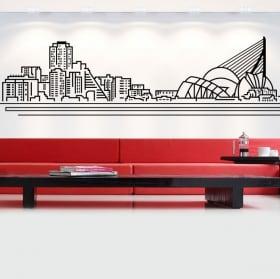 Decorative vinyl and stickers madrid skyline