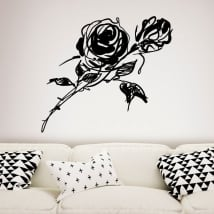Decorative vinyl and stickers with roses