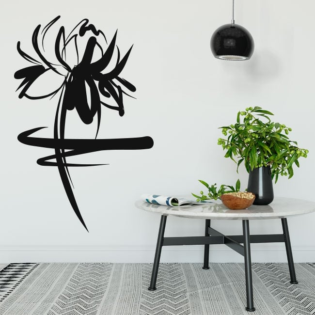 Decorative vinyl and stickers floral stroke