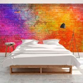 Wall stickers with bricks