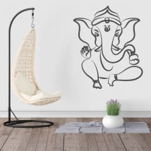 Vinyl and stickers silhouette ganesha elephant