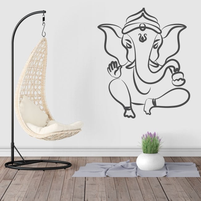 Vinyl and stickers silhouette ganesha elephant