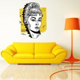 Decorative vinyl and stickers audrey hepburn