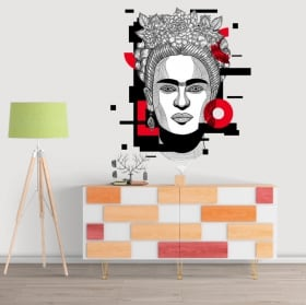 Decorative vinyl and stickers frida kahlo
