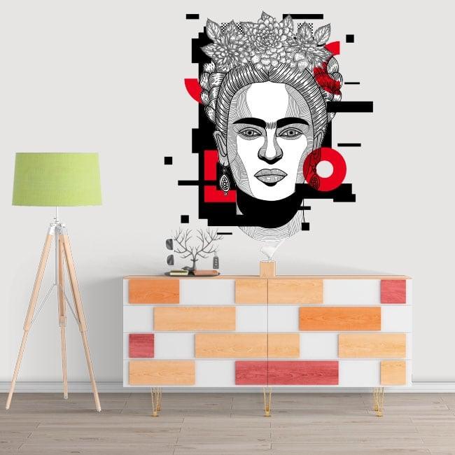 Decorative vinyl and stickers frida kahlo