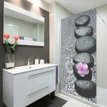 Vinyl bathroom screens zen stone