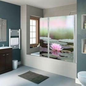 Vinyl for shower screens flowers poppies
