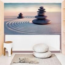 Vinyl murals zen stones
