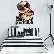 Decorative vinyl and stickers rock dog