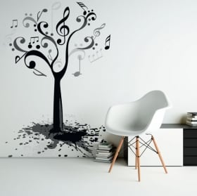 Decorative vinyl and stickers dead tree with birds