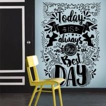 Decorative vinyl motivational phrases in english