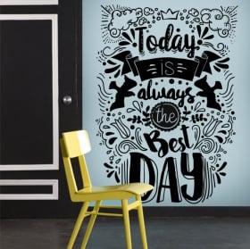 Decorative vinyl with motivational phrases