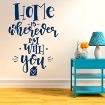 Vinyl and stickers romantic phrases in english