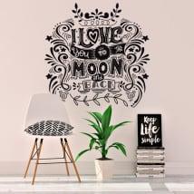 Decorative vinyl and stickers romantic phrases