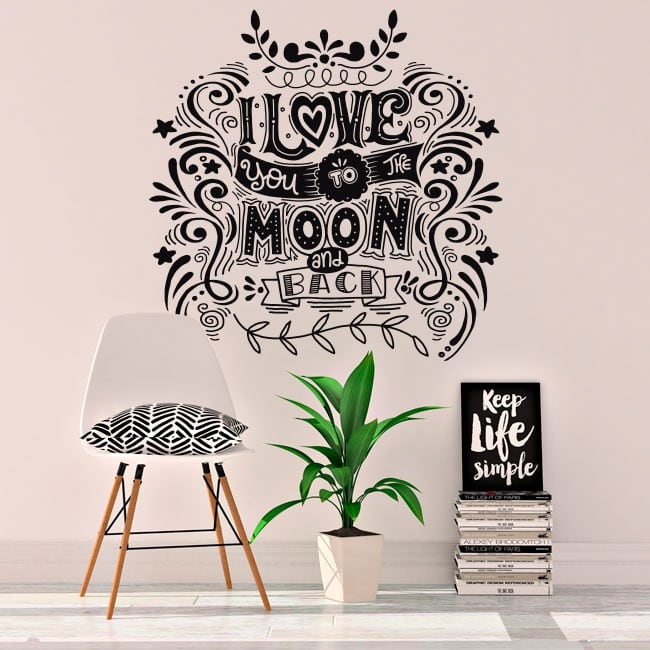 Decorative vinyl and stickers romantic phrases