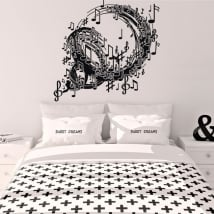 Decorative vinyl spiral with music notes