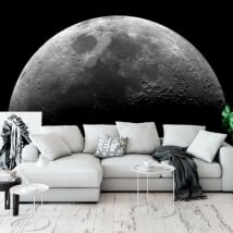 Adhesive murals of the moon
