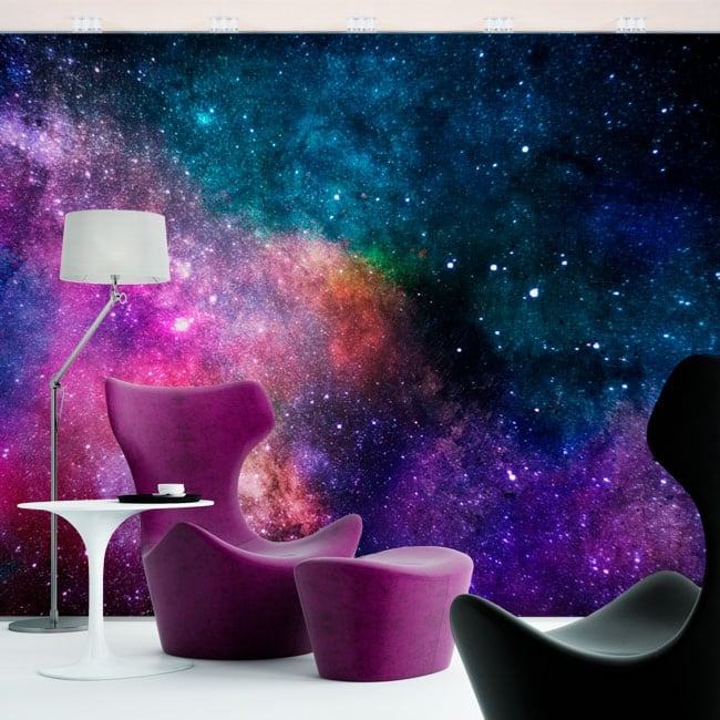 Wall murals of vinyl colors of the galaxy