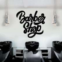 Decorative vinyl and stickers barber shop