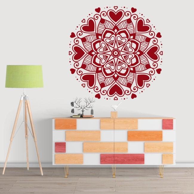 Vinyl and stickers hearts mandala