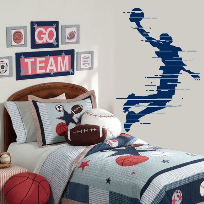 Decorative vinyl and stickers basketball