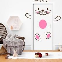 Door vinyl happy rabbit