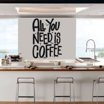 Vinyl and stickers kitchens phrase all you need is coffee
