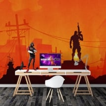 Wall murals video game fortnite