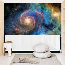 Vinyl murals spiral galaxy