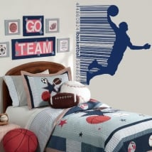 Vinyl and stickers basketball barcode