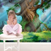 Wall murals magic forest stickers